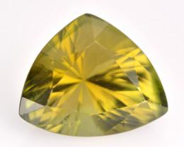 Green Tourmaline 2.91 Cts Millennium Cut Natural  Loose Gemstone