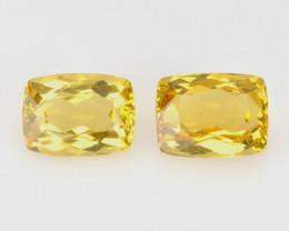 3.03 Cts 2 Pcs Rare Golden Yellow Beryl Natural Gemstone