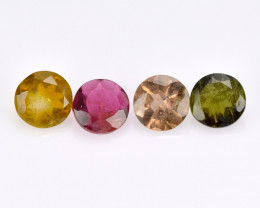 Tourmaline 1.56 Cts  4 Pcs Natural  Fancy Color Loose Gemstone