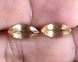 6x12mm Citrine Pair Natural Marquise Faceted Gemstone VA1342