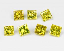 Yellow Diamond 0.20 Cts 7 Pcs Sparkling Fancy Greenish Yellow Natural