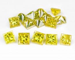 Yellow Diamond 0.30 Cts 11 Pcs Sparkling Fancy Greenish Yellow Natural