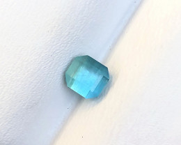 1.05 Carats Natural Blue Tourmaline Cut Stone from Afghanistan