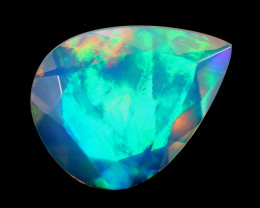 2.81cts Natural Ethiopian Welo Faceted Opal / KLV1356