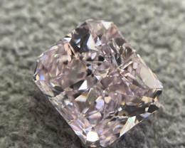 GIA Radiant 1.53 Carat Natural Fancy Brownish Pink I1 Diamond