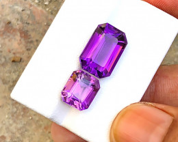 7.70 Carats Natural Amethyst Cut Stones from Africa