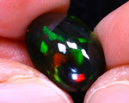 Welo Opal 3.58Ct Natural Ethiopian Smoked Play of Color Opal D3027/A3