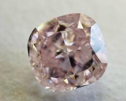 GIA Cushion 1.00 Carat Natural Loose Fancy Purplish Pink I1 Diamond