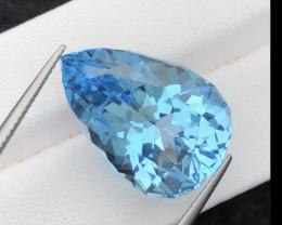 Stunning 25.40 Ct Natural Blue Topaz Gemstone