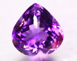 8.64ct Natural Purple Amethyst Heart Cut Lot A88