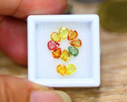 3.14ct Natural Fancy Color Sapphire Pear Cut Lot A34