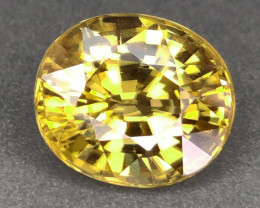 10.72 CTS NICE GORGEOUS RARE NATURAL YELLOW ZIRCON UNHEATED