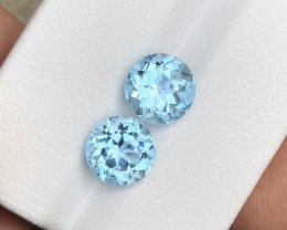 5.40 Carats Natural Pair of Swiss Topaz Cut Stones