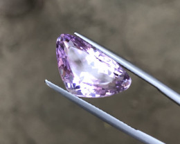 10 Carats Natural Kunzite Cut Stone from Afghanistan