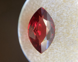 FINE 5.09ct Deep Red Rhodolite Garnet Marquise Cut RARE Gem 14.3x8.5mm