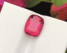 2.90 Ct Dark Bubblegum Hot Pink Color Natural Tourmaline From Jaba Mine Afg