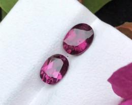 Top Grade 2.55 ct Fancy Cut Reddish Himalayan Garnet Pair Earing Size~M