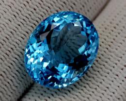 13.65CT BLUE TOPAZ BEST QUALITY GEMSTONE IIGC95