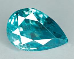 1.57 Cts Blue Zircon Natural Gemstone