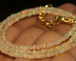 17.50 Crts Natural Ethiopian Welo Opal Beads Necklace 753
