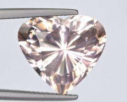 No Treat 9.85Carat Heart Shape Morganite Cut Gemstone