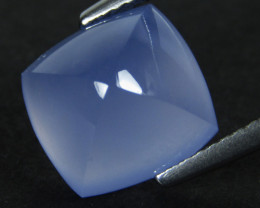 6.48Cts Genuine Natural Unheated Blue Color chalcedony Cushion Sugar loaf C