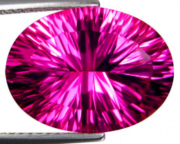 10.67Cts Genuine Amazing Natural Pink Topaz 16x12mm Oval Con cave Cut