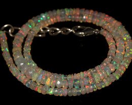 36.55 Crts Natural Welo Faceted Opal Beads Necklace 476