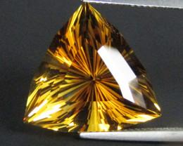 16.28Genuine Natural  Citrine Fashion Trillion Cut Loose Gemstone