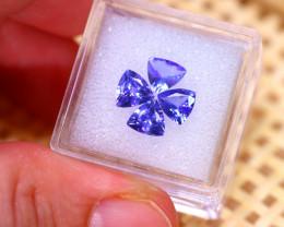 Tanzanite 2.73Ct 4Pcs Natural VVS Purplish Blue Tanzanite E3108/A45