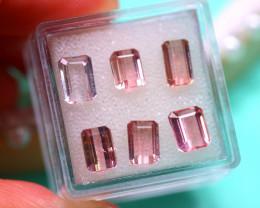 Tourmaline 7.03Ct 6Pcs Natural Pink Tourmaline E3115/B50
