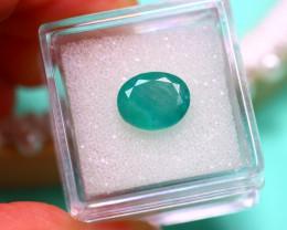 Emerald 3.25Ct Natural Zambia Green Emerald E3120/A38