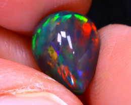 Welo Opal 1.80Ct Natural Ethiopian Smoked Play of Color Opal E3125/A3