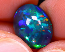 Welo Opal 2.72Ct Natural Ethiopian Smoked Play of Color Opal E3126/A3