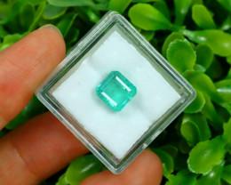 Panjshir 2.78Ct Octagon Cut Natural Afghanistan Green Emerald A2802