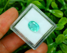 Panjshir 2.00Ct Oval Cut Natural Afghanistan Green Emerald A2804
