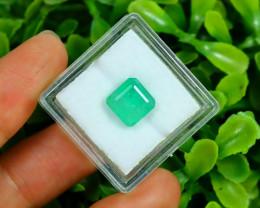 Panjshir 2.86Ct Octagon Cut Natural Afghanistan Green Emerald A2807