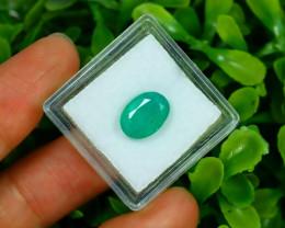 Panjshir 2.56Ct Oval Cut Natural Afghanistan Green Emerald A2808