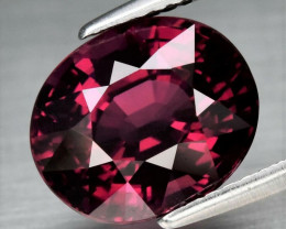Very Clean! 4.95ct IF Oval Natural Purplish Pink Rhodolite Garnet, Tanzania