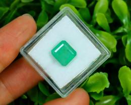 Panjshir 3.11Ct Octagon Cut Natural Afghanistan Green Emerald A2811