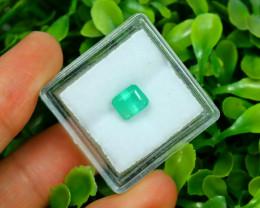 Panjshir 1.36Ct Octagon Cut Natural Afghanistan Green Emerald SA148