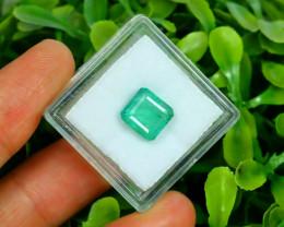 Panjshir 2.77Ct Octagon Cut Natural Afghanistan Green Emerald A2816