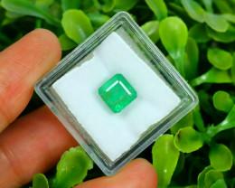Panjshir 2.65Ct Octagon Cut Natural Afghanistan Green Emerald A2817
