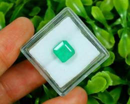 Panjshir 2.45Ct Octagon Cut Natural Afghanistan Green Emerald A2824
