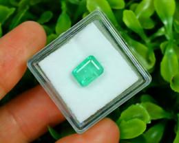 Panjshir 1.93Ct Octagon Cut Natural Afghanistan Green Emerald A2825