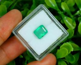 Panjshir 2.19Ct Octagon Cut Natural Afghanistan Green Emerald A2827