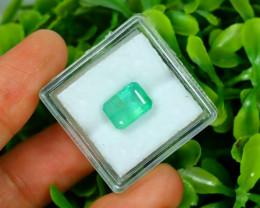 Panjshir 2.55Ct Octagon Cut Natural Afghanistan Green Emerald A2832