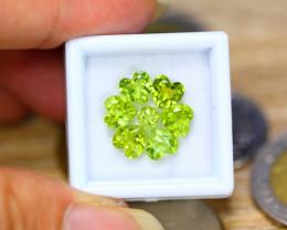 5.62ct Natural Green Peridot Heart Cut Lot V8257