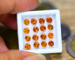 5.32ct Natural Hessonite Garnet Round Cut Lot V8239