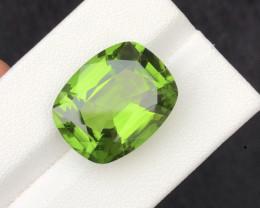 Fancy Cut 20.30 Carat Natural Grass Color Peridot Gemstone